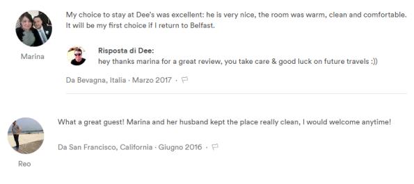 Come prenotare su Airbnb - recensioni