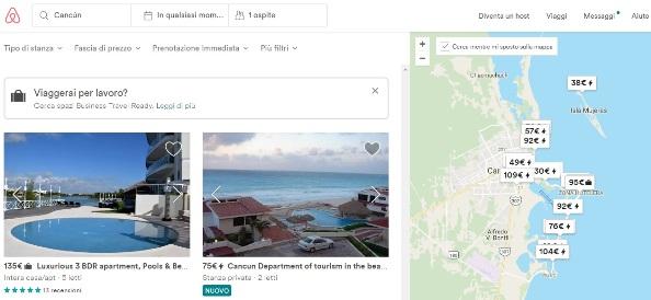Come prenotare su Airbnb - ricerca
