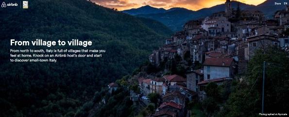 Airbnb salva i borghi italiani