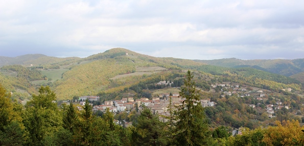 Vista dall'Hotel Candeleto - Alta Valle del Tevere