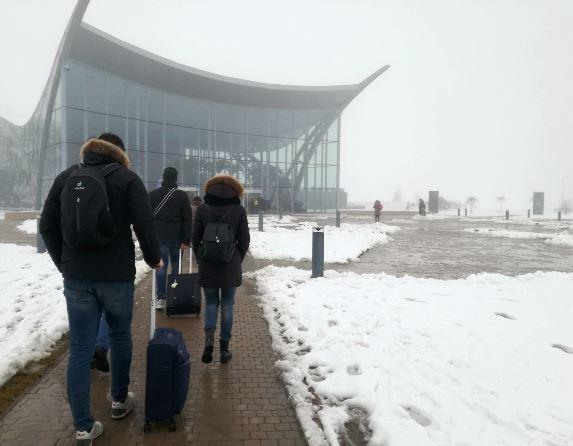 Terme Bucarest - ingresso d'inverno