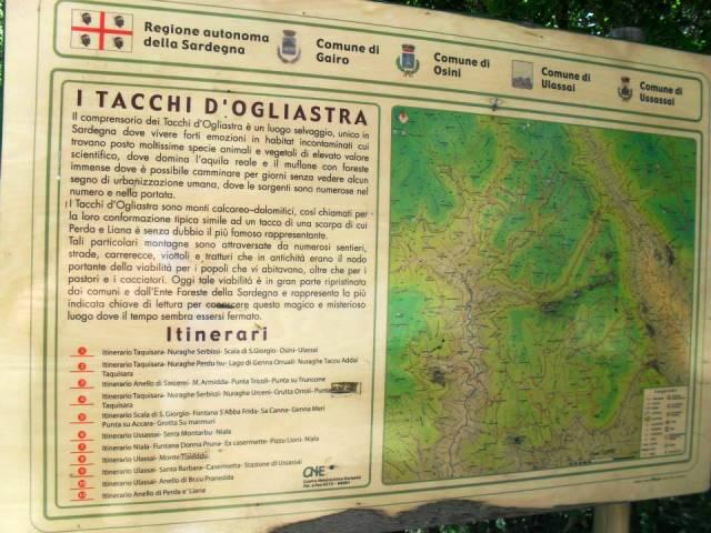 Segnaletica dei Tacchi d'Ogliastra - Ogliastra cosa vedere