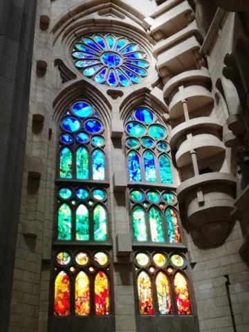 Vetrate nella Sagrada Familia