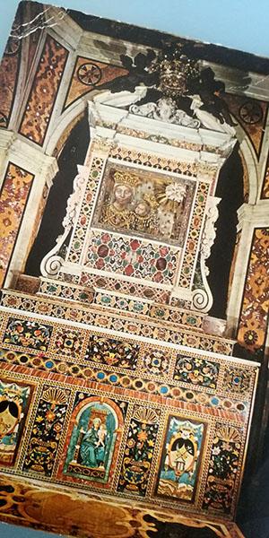 Cartolina dell'Altare del Santuario, 1978