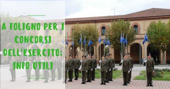 A Foligno per i concorsi dell'esercito