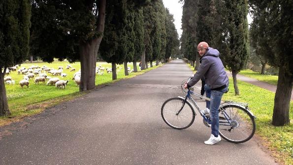 Parco Appia antica in bicicletta